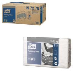 Протирочный нетканый материал 140 шт., TORK (Система W4) Premium, комплект 5 шт., серый, 38,5х42,8 см, 197278