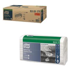Протирочный нетканый материал 60 шт., TORK (Система W4) Premium, комплект 5 шт., белый, 35,5х64,2 см, 530177
