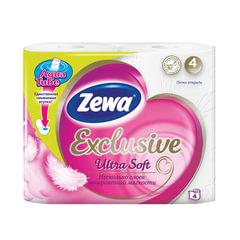 Бумага туалетная бытовая, спайка 4 шт., 4-х слойная (4х17,4 м), ZEWA Exclusive Ultra Soft