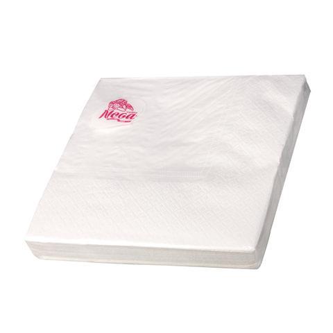 "Салфетки бумажные, 20 шт., 33х33 см, 3-х слойные, ""NEGA"" (""Нега""), белые"