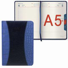 """Ежедневник датированный 2018, А5, GALANT """"Combi Contract"""", комбинированный, вырубной блок, темно-синий, 148х218 мм"""