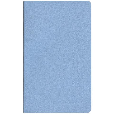 "Бизнес-блокнот А5, ЭКО-кожа, без линовки, HATBER, 128 л., ""MAJESTIC-голубой"", 128ББL5В_04225"