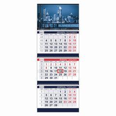 "Календарь квартальный на 2018 г., HATBER, Офис, 3-х блочный, на 3-х гребнях, ""Business Style"", 3Кв3гр3 14206"