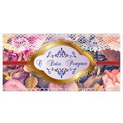 """Конверт для денег """"С Днем рождения"""", 166х82 мм, выборочный лак, розы, BRAUBERG"""