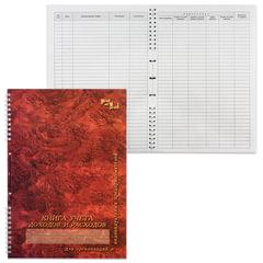 """Книга """"Учета доходов и расходов"""", 50 л., А4, 204х290 мм, прошита под печать, обложка лакированный картон, гребень"""