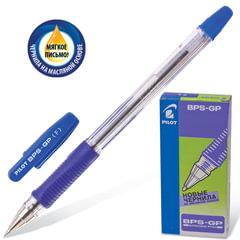 """Ручка шариковая масляная PILOT """"BPS-GP"""", корпус прозрачный, узел 0,7 мм, линия 0,32 мм, синяя"""