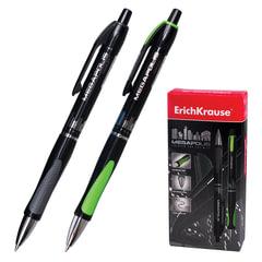 """Ручка шариковая автоматическая ERICH KRAUSE """"Megapolis Concept"""", корпус черный, узел 0,7 мм, линия 0,35 мм, черная"""