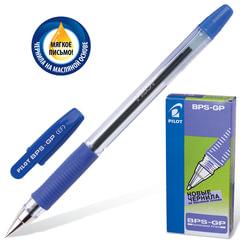 """Ручка шариковая масляная PILOT """"BPS-GP"""", корпус прозрачный, узел 0,5 мм, линия 0,25 мм, синяя"""