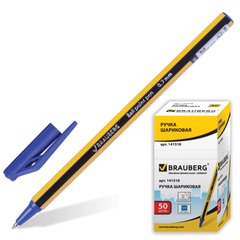 "Ручка шариковая BRAUBERG ""Jax"", корпус черно-желтый, толщина письма 0,7 мм, синяя"