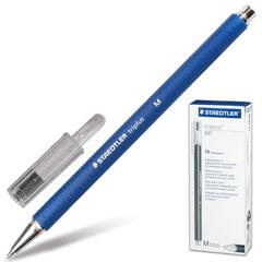 """Ручка шариковая STAEDTLER (ШТЕДЛЕР, Германия) """"Triplus ball"""", трехгранная, прорезиненный корпус, 0,45 мм, синяя"""