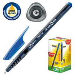 """Ручка шариковая масляная MAPED (Франция) """"Green Dark"""", корпус черный, узел 1 мм, линия 0,6 мм, синяя"""