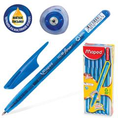 "Ручка шариковая масляная MAPED (Франция) ""Green Ice Fine"", узел 0,7 мм, линия 0,4 мм, синяя"