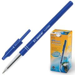 Ручка шариковая BEIFA (Бэйфа), корпус синий, пластиковый наконечник, 1 мм, синяя