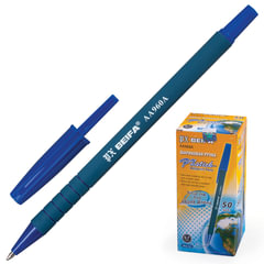 Ручка шариковая BEIFA (Бэйфа), корпус матовый, металлический наконечник, толщина письма 0,7 мм, синяя