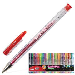 """Ручки гелевые BEIFA (Бэйфа), набор 30 шт., """"WMZ"""", корпус прозрачный, 0,7 мм, европодвес, цвет ассорти"""