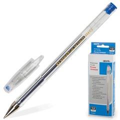 Ручка гелевая BEIFA (Бэйфа), корпус прозрачный, металлический наконечник, толщина письма 0,5 мм, синяя