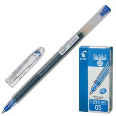 """Ручка гелевая PILOT """"Super Gel"""", корпус прозрачный, узел 0,5 мм, линия 0,3 мм, синяя"""
