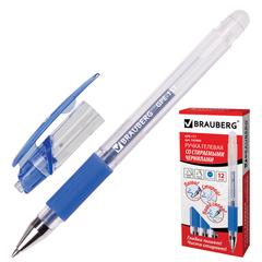 """Ручка """"Пиши-стирай"""" гелевая BRAUBERG """"Number 1"""", толщина письма 0,5 мм, резиновый держатель, синяя"""