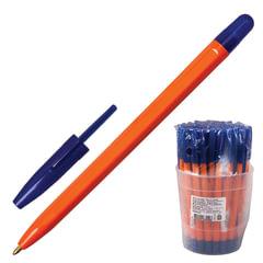 """Ручка шариковая СТАММ """"111"""", корпус оранжевый, толщина письма 1 мм, синяя"""