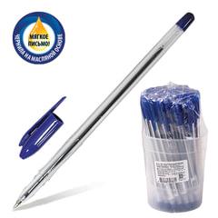 """Ручка шариковая масляная СТАММ """"VeGa"""", корпус прозрачный, толщина письма 0,7 мм, синяя"""