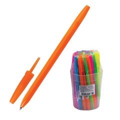 """Ручка шариковая СТАММ """"Оптима"""", корпус ассорти неоновый, толщина письма 0,7 мм, синяя"""