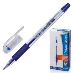 "Ручка гелевая PAPER MATE ""PM 300"", корпус прозрачный, узел 1 мм, линия 0,7 мм, синяя"