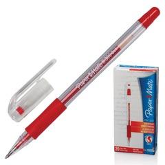 "Ручка гелевая PAPER MATE ""PM 300"", корпус прозрачный, узел 1 мм, линия 0,7 мм, красная"