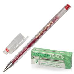 """Ручка гелевая СОЮЗ """"Oskar"""", корпус прозрачный, толщина письма 0,7 мм, красная"""