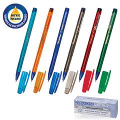"""Ручка шариковая масляная СОЮЗ """"Gamma"""", корпус тонированный, игольчатый пишущий узел 0,7 мм, синяя"""