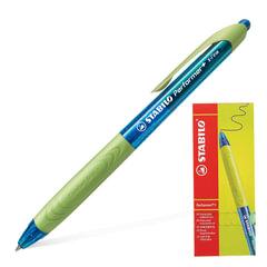 """Ручка шариковая STABILO автоматическая """"Performer+"""", корпус сине-зеленый, толщина письма 0,3 мм, синяя"""