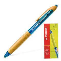 """Ручка шариковая STABILO автоматическая """"Performer+"""", корпус сине-оранжевый, толщина письма 0,3 мм, синяя"""