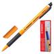 """Ручка гелевая STABILO """"PointVisco"""", корпус оранжевый, узел 1 мм, линия 0,5 мм, резиновый упор, черная"""