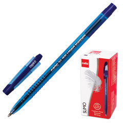"""Ручка шариковая масляная CELLO """"Slimo"""", корпус синий тонированный, толщина письма 1 мм, синяя"""