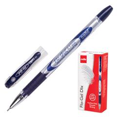 """Ручка гелевая CELLO """"Flo Gel"""", корпус непрозрачный, игольчатый пишущий узел 0,5 мм, резиновый держатель, синяя"""