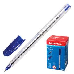 "Ручка шариковая масляная ERICH KRAUSE ""Ultra Glide U-11"", корпус прозрачный, узел 1 мм, линия 0,5 мм, синяя"