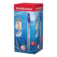 """Ручка шариковая ERICH KRAUSE автоматическая """"R-301 MATIC"""", корпус прозрачный, 0,5 мм, синяя"""