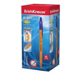 """Ручка шариковая ERICH KRAUSE автоматическая """"R-301 MATIC"""", корпус оранжевый, 0,35 мм, синяя"""