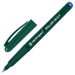 Ручка-роллер CENTROPEN, трехгранная, корпус зеленый, толщина письма 0,3 мм, синяя