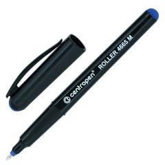Ручка-роллер CENTROPEN, трехгранная, корпус черный, толщина письма 0,6 мм, синяя
