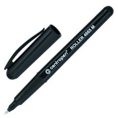Ручка-роллер CENTROPEN, трехгранная, корпус черный, толщина письма 0,6 мм, черная