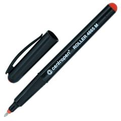 Ручка-роллер CENTROPEN, трехгранная, корпус черный, толщина письма 0,6 мм, красная