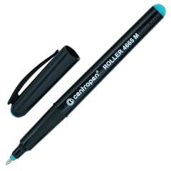 Ручка-роллер CENTROPEN, трехгранная, корпус черный, толщина письма 0,6 мм, зеленая