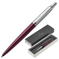 """Ручка подарочная шариковая PARKER """"Jotter Core Portobello Purple CT"""", пурпурный корпус, хромированные детали, синяя, 1953192"""