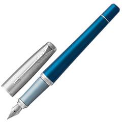 """Ручка перьевая PARKER """"Urban Premium Dark Blue CT"""", корпус темно-синий, анодированный алюминий, хром, 1931563, синяя"""