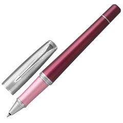 """Ручка-роллер PARKER """"Urban Premium Dark Purple CT"""", корпус темно-пурпурный, анодированный алюминий, хром, 1931570, черная"""