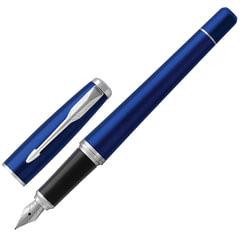 """Ручка перьевая PARKER """"Urban Core Nightsky Blue CT"""", корпус темно-синий, латунь, лак, хромированное покрытие деталей, 1931598, син"""