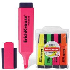 "Текстмаркеры ERICH KRAUSE, набор 4 шт., ""Visioline V-20"", скошенный наконечник 0,6-5,2 мм (желтый, зеленый, розовый, оранжевый)"