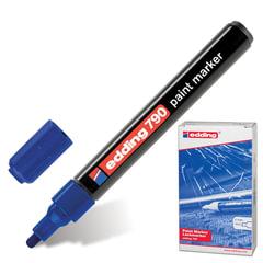 Маркер-краска лаковый EDDING, 2-4 мм, круглый наконечник, пластиковый корпус, синий
