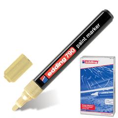 Маркер-краска лаковый EDDING, 2-4 мм, круглый наконечник, пластиковый корпус, золотой