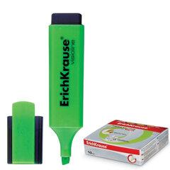 "Текстмаркер ERICH KRAUSE ""Visioline V-20"", скошенный наконечник 0,6-5,2 мм, зеленый"